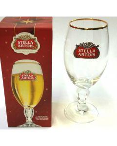 Stella Artois 33cl Gold Rimmed Chalice Glass