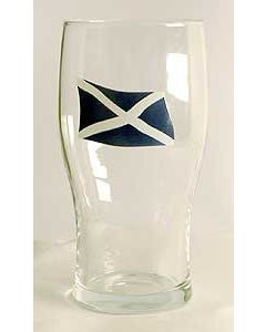 Scottish Flag Pint Glass