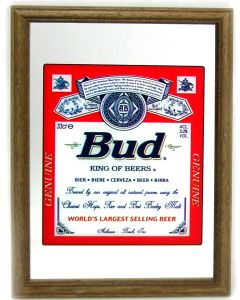 Budweiser Large Mirror