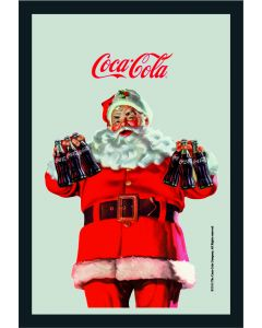 Coke Small Mirror - Santa