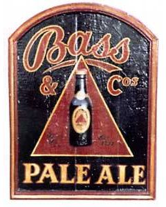 Bass Pale Ale 3D Hand Painted Pub Sign (24 x 18)