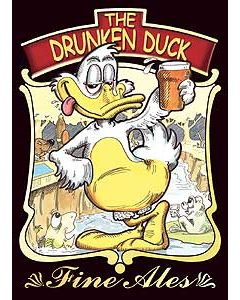 Drunken Duck Metal Postcard