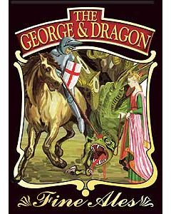 George & Dragon Metal Postcard