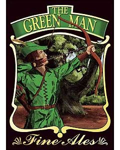 Green Man Metal Postcard