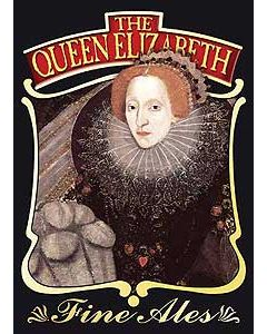 Queen Elizabeth Metal Postcard