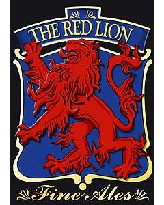 Red Lion Metal Postcard
