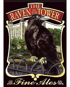 Raven in the Tower Metal Postcard