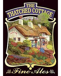 Thatched Cottage Metal Postcard