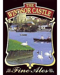 Windsor Castle Metal Postcard