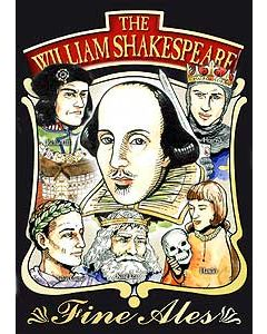 William Shakespeare Metal Postcard