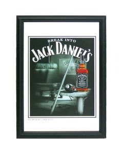 Whisky Jack Daniels Small Mirror Snooker. 32.3x22cm. New