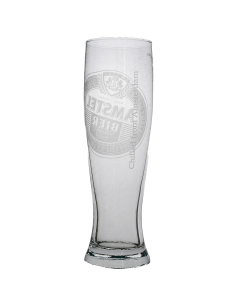 Amstel Dutch 2/3 Pint Glass. Government Stamp - New