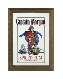 Captain Morgan Rum Wooden Framed Mini Mirror. 8x6cm - New