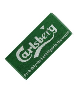 Carlsberg Danish Lager 100% Cotton Bar Towel. 52x22cm - New