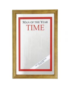 Time Front Page Small Mirror. 32.3x22cm. Pub New