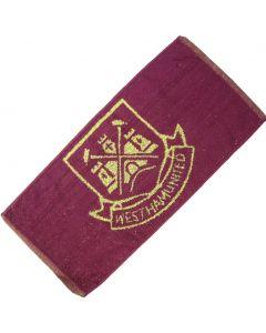 West Ham Football Club 100% Cotton Bar Towel 52x22cm - New