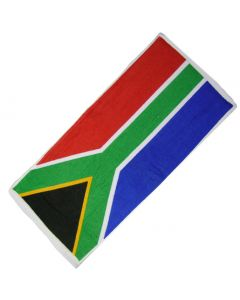 South Africa Flag 100% Cotton Bar Towel. 52x22cm - New