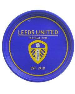 Leeds Football Club Pub Serving Waiter Tin Tray.  31cm Diameter - New