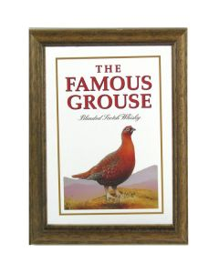 Famous Grouse Whisky Wooden Framed Mini Mirror. 8x6cm - New