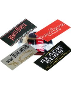 Set 4 x Whisky Cotton Bar Towels Teachers Famous Grouse Black Bush White horse 52x22cm  New