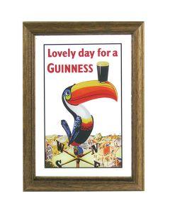 Guinness Irish Stout Beer Wooden Framed Toucan Mini Mirror. 8x6cm - New