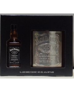Jack Daniels Hip Flask and Mini Gift Set