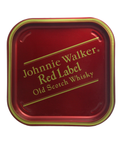 Johnnie Walker Red Label Whisky Serving Waiter Tin Tray. 34x34x2cm. Pub, Bar, -  Decoration - New