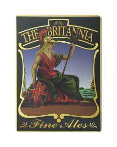 Laminated Pub Sign The Britannia, size 30x20cm - Cork-backed Poster - Exclusive Design - New