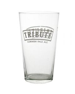 Tribute Ale Conical Pint (568ml) Pub Glass. CE Marked - New
